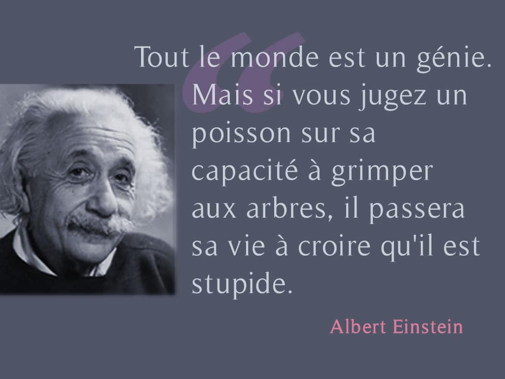 Albert-Einstein-citation-tout-le-monde-est-un-genie-Coaching Ado | Coaching jeunes