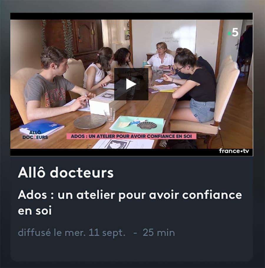 Ados : un atelier pour avoir confiance en soi - Reportage Allô docteurs sur nos stages pour jeunes